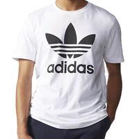 Adidas Originals Trefoil Mens T Shirt Casual Athletic White/Black aj8828 Sz L