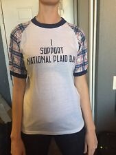 """DEAD MEN DON""""T WEAR PLAID 1982 original college promotional tour T Shirt"""