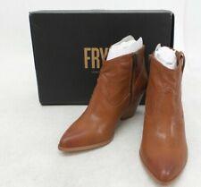 Frye Reina Bootie Leather Western Women's 9 Med Cognac 3479257 Cowboy BOOTS
