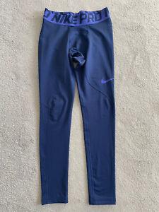 NEW - Boys NIKE DRI-FIT skins / running leggings in navy. Size XL 13-15 yrs.