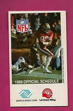 1988 NFL OVERSIZE OFFICIAL SCHEDULE JERRY RICE ON PHOTO (INV# 8345)