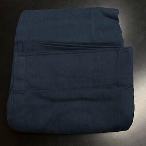 Single Restoration Hardware Brushed Cotton Twill Curtain Indigo Blue 84X100