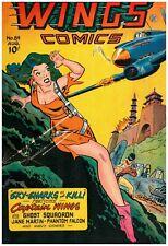 Wings Comics #84 Golden Age Fiction House 5.5