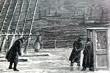 Christmas at Sea 1877 FLEET at BESIKA BAY COLD DECK of HMS SULTAN Antique Print