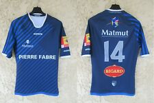 Maillot rugby CASTRES OLYMPIQUE 2014 2015 porté n°14 KIPSTA worn shirt M