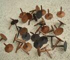 "Vintage Lot 34 SOLID Copper Tacks 5/8"" OCTAGON Head HUNGERFORD Furniture?"