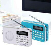 T205 Portable FM Radio MP3 Player Mini Music Speaker TF Card USB AUX Audio Input