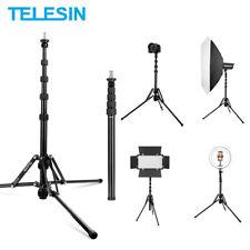 TELESIN Adjustable Tripod Photography Monopod Stand Aluminum with 1/4 3/8 Screw