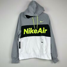 Nike Air Max 95 Neon Pullover Hoodie Grey White Black Volt Green Men's S-M