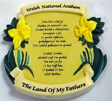 Welsh National Anthem / Daffodils design FRIDGE MAGNET,  Wales / Cymru