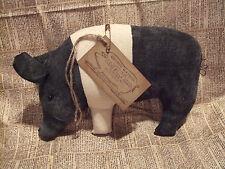 Primitive Pig (ONE) Hog BIG Bowl Filler Ornie Rustic Country Decor