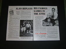 Alan Hodgkinson Worksop Town,Sheffield United & ENGLAND signed book illustration