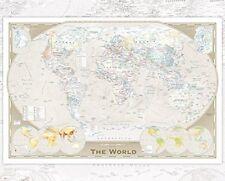 World Map Tripel Projection Educational Maps Mini Poster Print 40x50cm 16x20 in