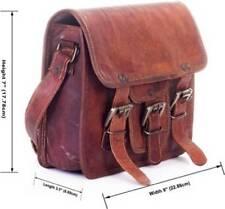 Genuine real Leather Shoulder Satchel Bag Messenger vintage small man woman 8 s