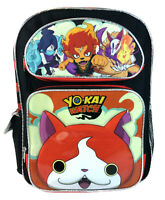 "Yokai  Watch 16"" Large School Backpack Book Bag Jibanyan Black"