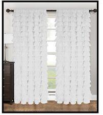 "Waterfall ruffled   fabric window Panle  60"" x 90"""