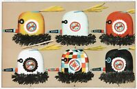 1885 Zuni Mask Lithograph Native American Directional Masks ORIGINAL RARE
