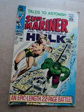 Tales to Astonish #100 Sub-Mariner vs Incredible Hulk 1968 Marvel Comics