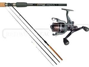 Specialist Barbel Avon Fishing Rod 11ft  & Double Handle Freespool reel & line