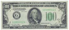 Currency - 1934D - $100  FRN Note Bill - Chicago (8912)