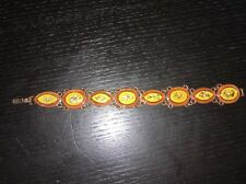 Bracelet Taratata cuivre et feuilles d'or