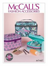 McCalls SEWING PATTERN M7487 Travel/Cosmetic Cases In 3 Sizes