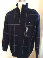 NWD Nautica XL Navy 1/4 Zip Pullover Sweat Sweater Shirt Long Sleeve L/S MEN's