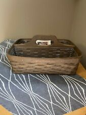 New ListingLongaberger Carry N Caddy Deep Brown Basket with clear protectors. 2006