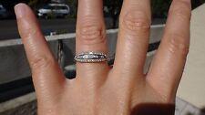 Antique 18K white gold diamond engagement ring