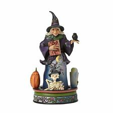 Jim Shore Witch with Rotating Goblins and Ghouls 4056593