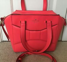 Kate Spade Beau Bag, Neon Coral Smooth Leather, SUPERB CONDITION