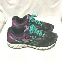 BROOKS GHOST 9 RUNNING SHOES BLACK PURPLE SIZE 9 WOMEN'S