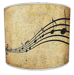 Notas Musicales Diseño Pantallas de Lámpara para Combinar Hoja Música Edredones
