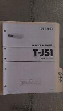 Teac t-j51 service manual original repair book stereo tuner radio