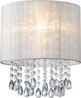 Black/White Organza & Hanging Beaded Ceiling Lamp shade Lamp Fittings