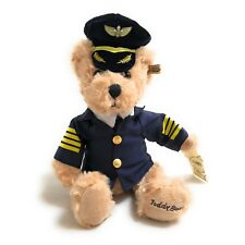 Airline Pilot Teddy Bear - Small Soft Toy (25 cm) High Quality - Perfect Gift!