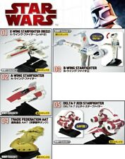 Star Wars Vehicle X B A WING AAT DELTA 7 Starfighter Model kit SET F-Toys V3#5pc