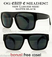 NEW XL OG Eazy E MATTE Black Locs DARK LENS Motorcycle Sunglasses Cholo X Sports