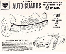 1960 MGA 1600  ~  VINTAGE ORIGINAL SMALLER PRINT AD ~ ARNOLT AUTO-GUARD