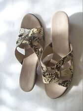 MUNRO AMERICAN LANAI SLIDE LEATHER SNAKE PRINT SANDAL SZ 11.5 M  NEW