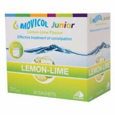 BRAND NEW MOVICOL LEMON LIME JUNIOR LAXATIVE 30 SACHETS POWDER