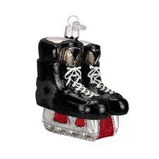"""Hockey Skates"" (44046) Old World Christmas Glass Ornament w/ OWC Box"