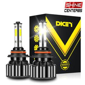 HB3 9005 LED Headlight Hi-Lo H10 9145 Foglight Bulb Kit 120W 18000LM 5000K White