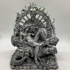 New ListingFantasy Queen of the Dragons Figure Sculpture Mythical Magic Flaming Throne