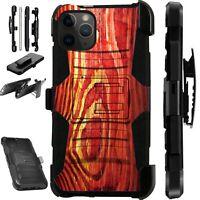 For iPhone 11/X/8/7/6 PRO MAX PLUS Phone Case Cover WOODGRAIN PRINT LuxGuard