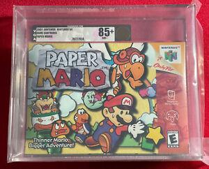 Paper Mario (Nintendo 64) New Sealed VGA 85+ Gold Level WATA 9.8 A++ IGS Gem 💎