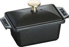 Staub Square Terrine Mold 15x11 cm Black Black Innenemaillierung