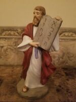 "Moses And The Ten Commandments Homco 8.25"" Porcelain Figure Figurine # 1464"