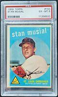 1959 Topps #150 Stan Musial PSA 6 Cardinals MLB Baseball Card HOF