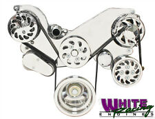 LS1, 2, 3 & 6 BILLET SERPENTINE PULLEY KIT w/WP, PS, ALT AND A/C # WPM-5300-POL